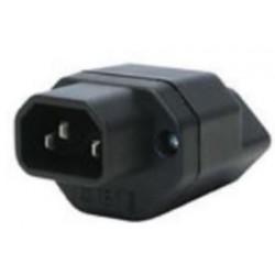 Umwandlungsstecker, IEC320/T13, schwarz_2845