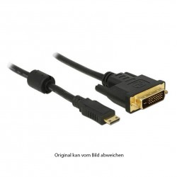 DVI-D M / HDMI-Mini CM Adapterkabel, 1m_4670