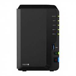 Synology NAS Server, DS220+, 2x 4TB, VOS_5946